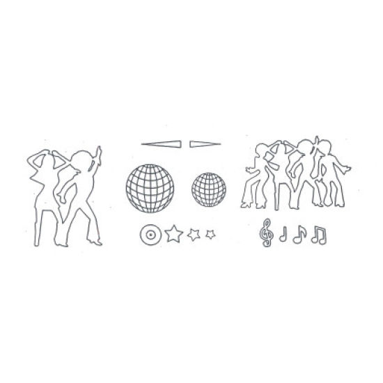 Patchwork Cutter & Embosser Disco Dancers