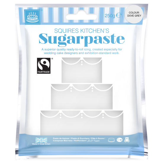 SK Fairtrade Sugarpaste Dove Grey 250g