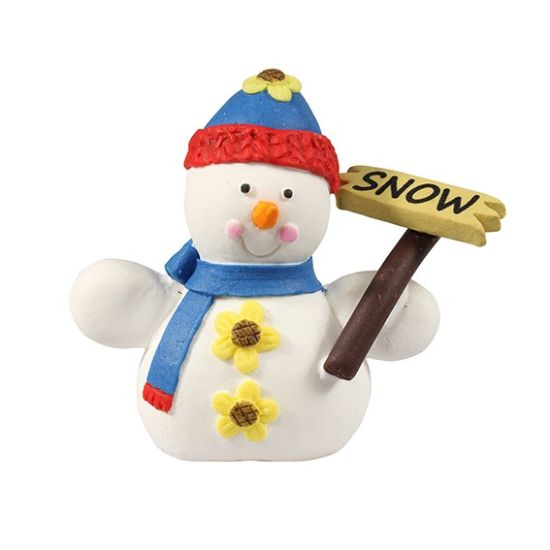 Cake Star Snowman With Sign Cake Topper Squires Kitchen Shop