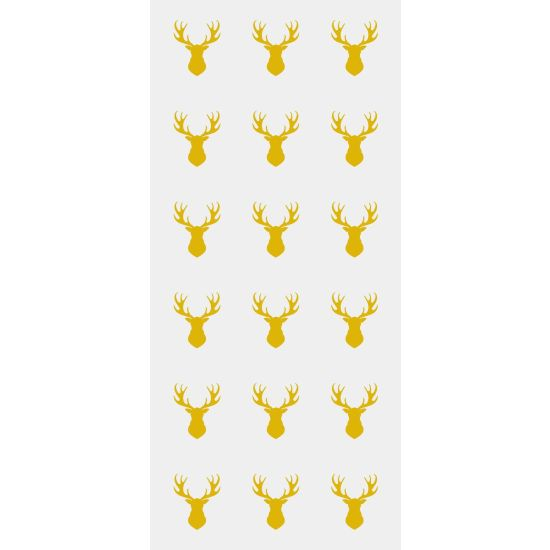 Gold Stag Gift Bags with Ties Pack of 20