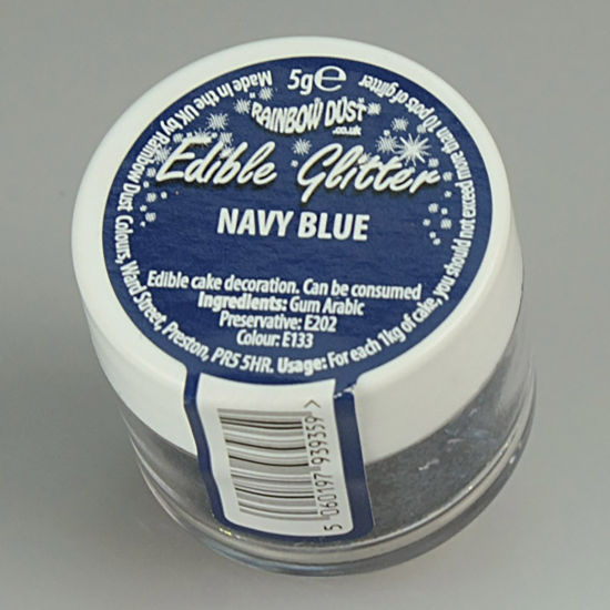 Rainbow Dust Edible Glitter 5g - Navy Blue