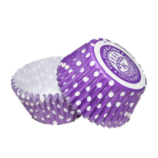 SK Cupcake Cases Winter Dotty Purple Pack of 36