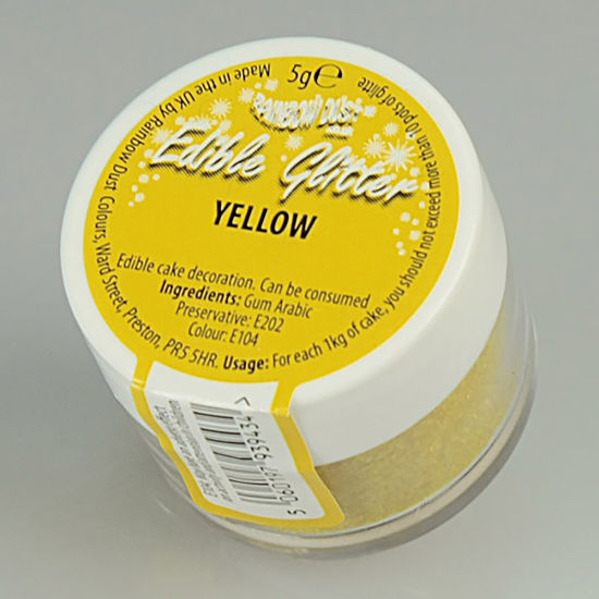 Rainbow Dust Edible Glitter 5g - Yellow