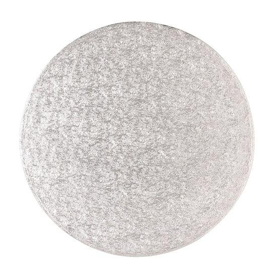 Silver Drum 1/2 Inch Thick Round 8 Inch