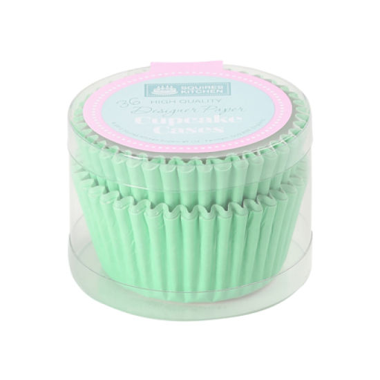 SK Cupcake Cases Colour Block Pastel Green Pack of 36