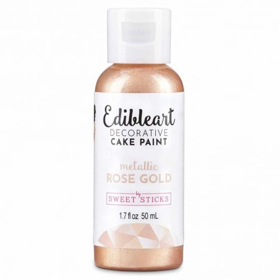 Sweet Sticks Edibleart Metallic Paint Rose Gold 50ml