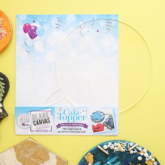 Sweet Stamp Blank Canvas Circle Blank Topper