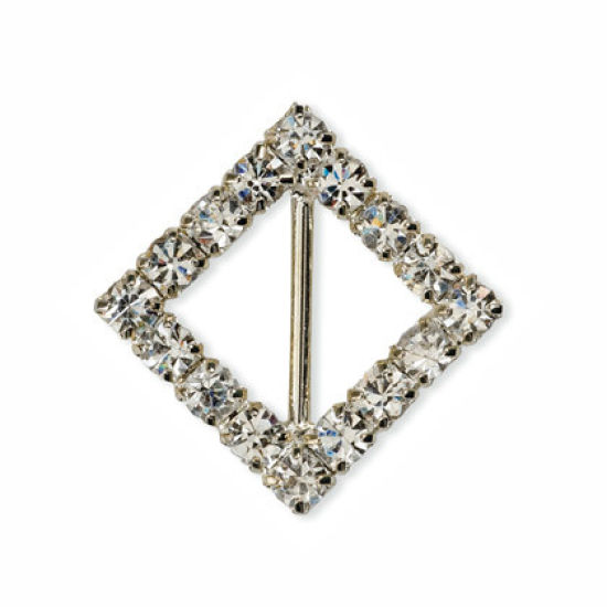 Small Diamante Diamond Ribbon Buckle Pack of 10