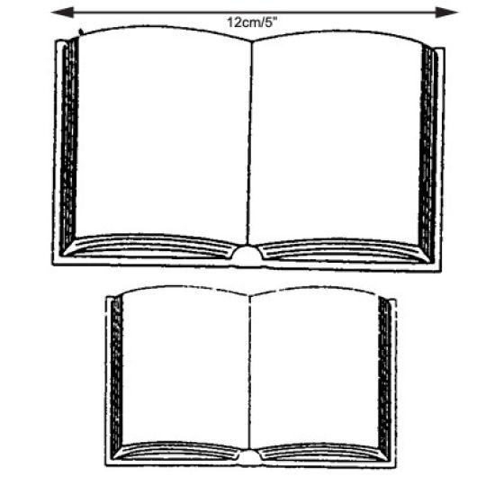 Patchwork Cutter & Embosser Open Books