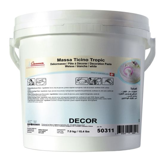 Massa Ticino Sugarpaste White Tropic 7kg