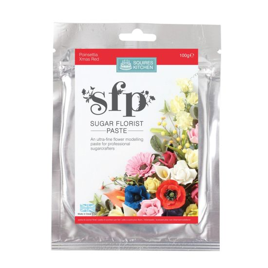 SK SFP Sugar Florist Paste Poinsettia (Christmas Red) 100g