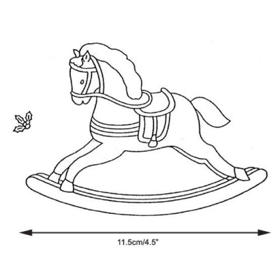 Patchwork Cutter & Embosser Rocking Horse