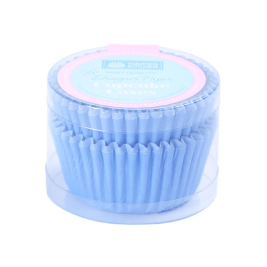 SK Cupcake Cases Colour Block True Blue Pack of 36
