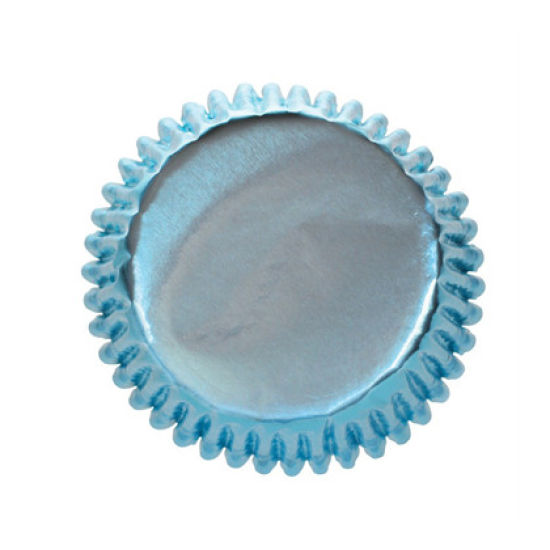 Ice Blue Foil Cupcake Cases Pack of 45