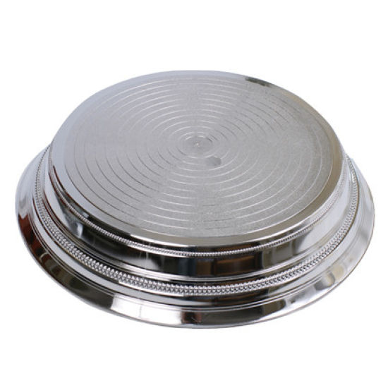 Silver Round Plastic Cake Stand 14 Inch