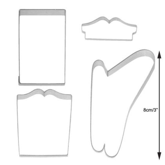TinkerTech Sleigh Cutter Set of 4