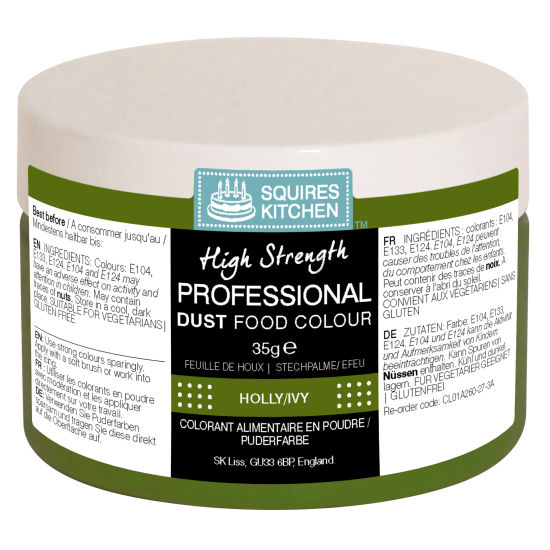 SK Professional Food Colour Dust Holly/Ivy (Dark Green) 35g