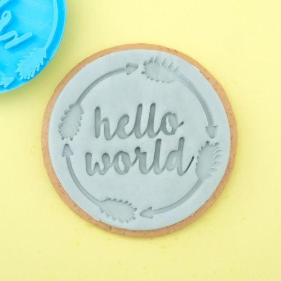 Sweet Stamp Hello World Cupcake Embosser