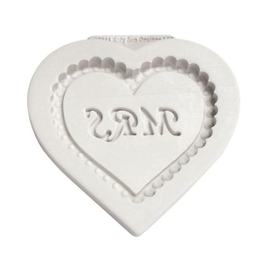 Katy Sue Mrs Heart Plaque Mould