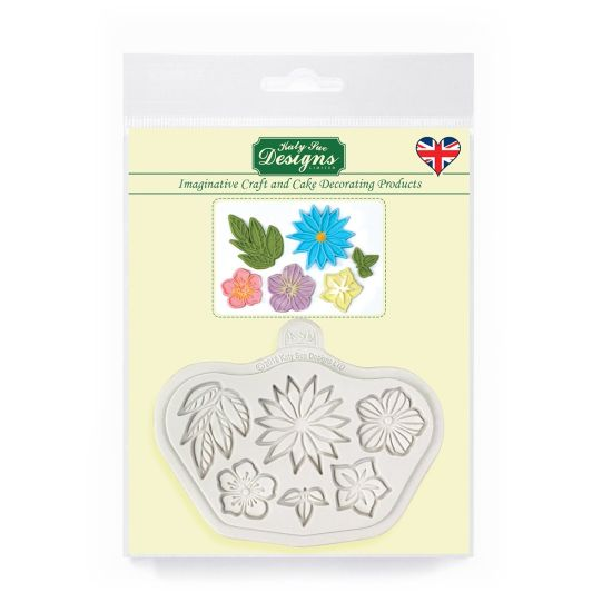 Katy Sue Designs Stylised Flowers Mould