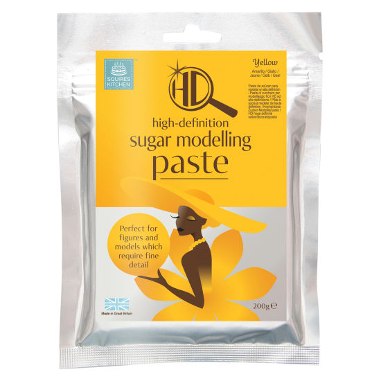 Squires Kitchen HD Sugar Modelling Paste Yellow 200g