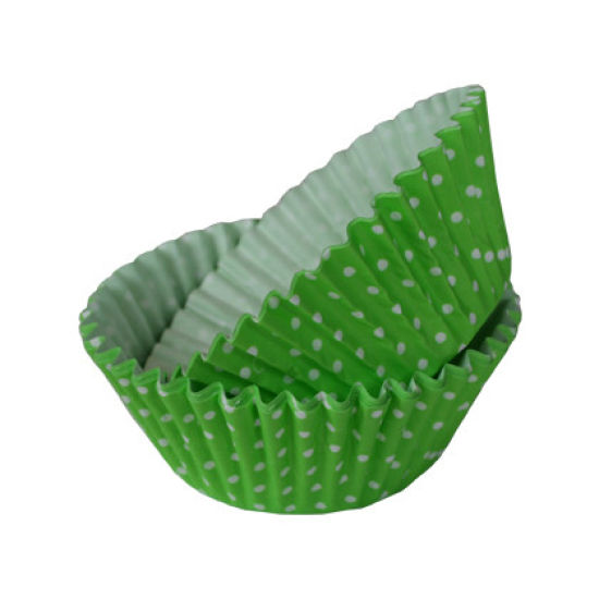SK Cupcake Cases Polka Dot Apple Green Pack of 36