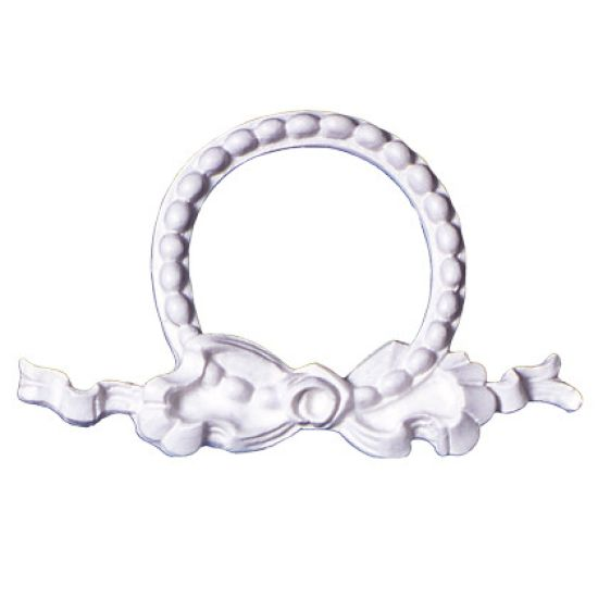 SK-GI Silicone Mould Bow & Pearl Garland Frame 11 x 6.5cm