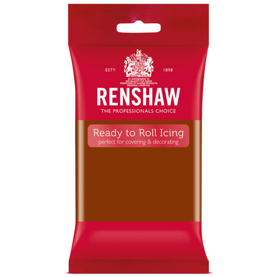Renshaw Ready to Roll Icing Dark Brown 250g