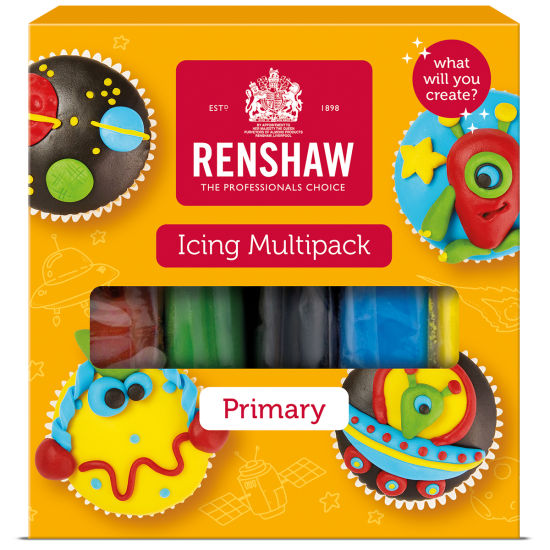 Renshaw Ready to Roll Icing Primary Colours Multipack 5x100g