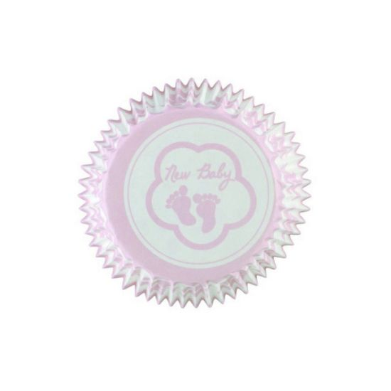 Pink Baby Feet Cupcake Cases