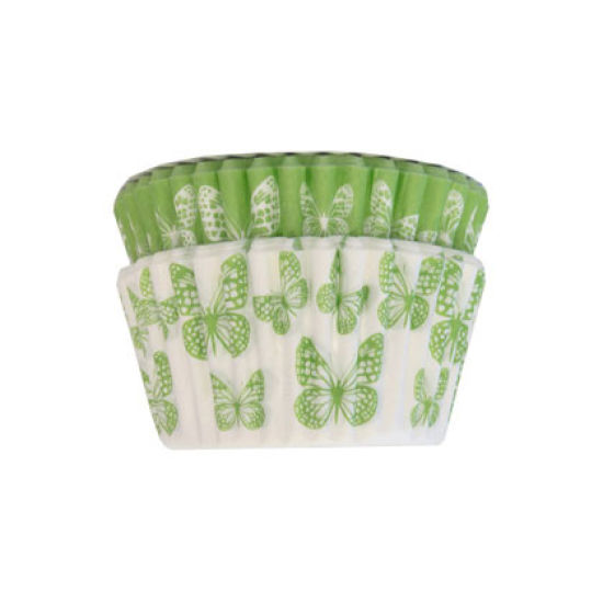 SK Cupcake Cases Butterfly Bright Green Pack of 36