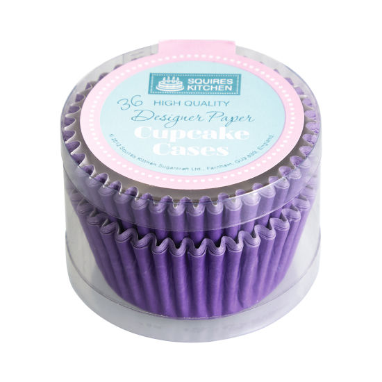 SK Cupcake Cases Colour Block Pure Lavender Pack of 36