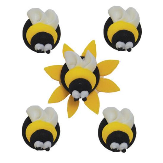 Sugar Bumble Bees - Set of 5