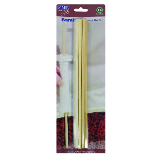 PME Bamboo Dowel Rods Pack of 12