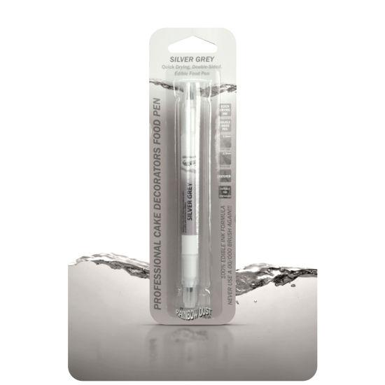 Rainbow Dust Double-Sided Edible Food Pen Silver Grey