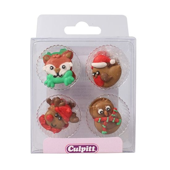 Winter Friends Sugar Decorations Set of 12
