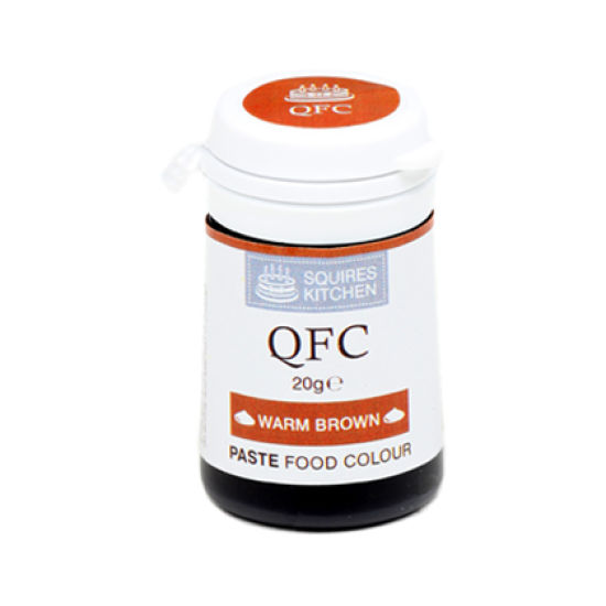 SK QFC Quality Food Colour Paste Warm Brown 20g