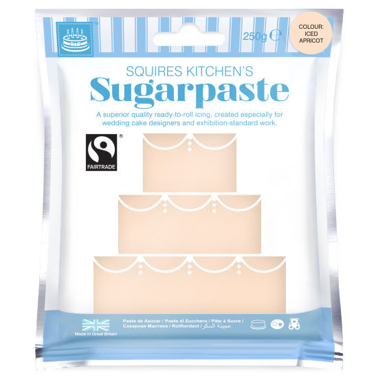 SK Fairtrade Sugarpaste Iced Apricot 250g