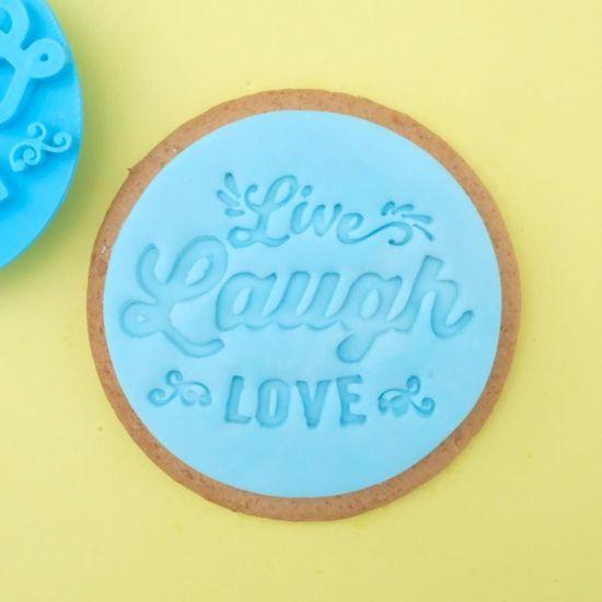 Sweet Stamp Live Laugh Love Cupcake Embosser