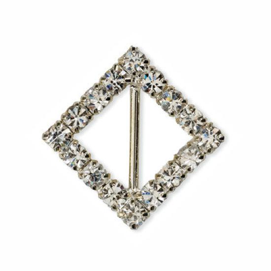 Small Diamante Diamond Ribbon Buckle
