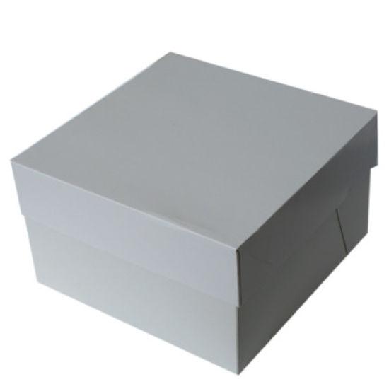 "White Cake Box 10x10x6"""