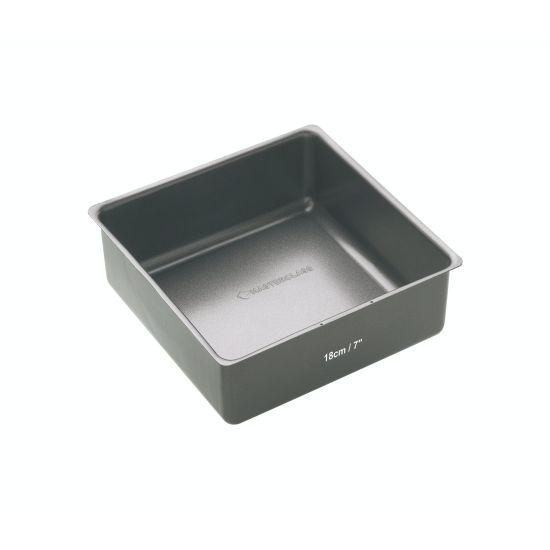 MasterClass Non-Stick 18cm Square Loose Base Deep Cake Pan