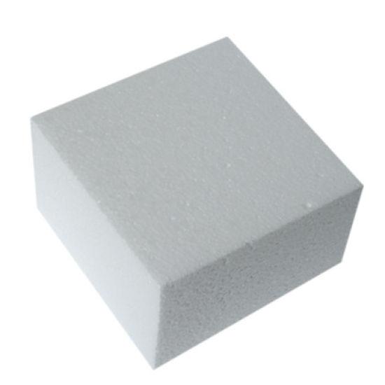 Square Straight Edged Cake Dummy - 8 Inch