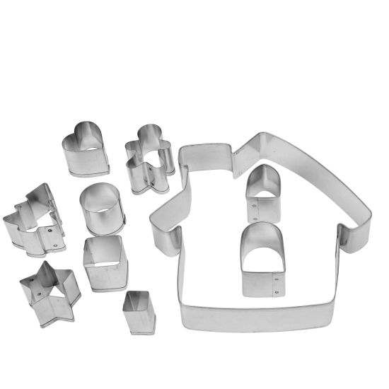 Gingerbread House Cookie Cutter Set - 10 Pieces