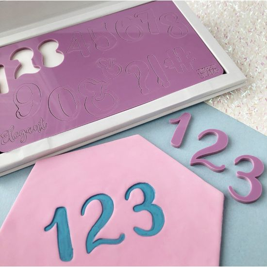 Sweet Stamp Elegant Number Embossing Set