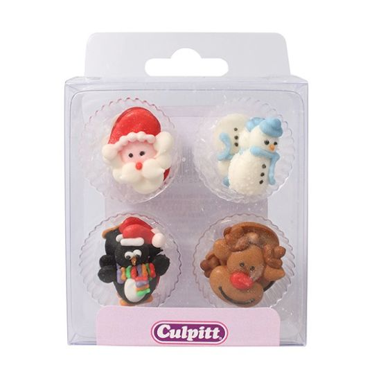 Christmas Friends Sugar Pipings Set of 12