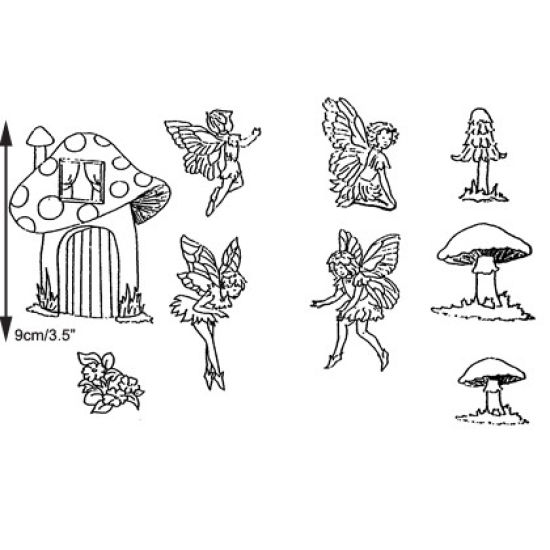 Patchwork Cutter & Embosser Fairies and Toadstool