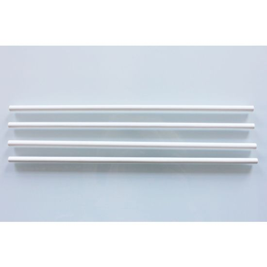 "White Plastic Dowel Rods 12"" - Pack of 10"