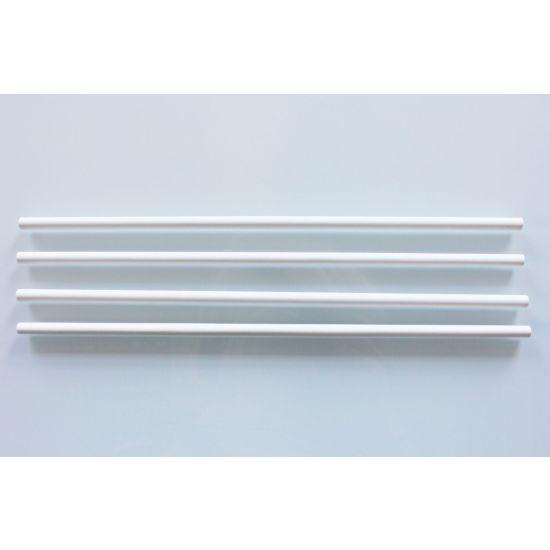 """White Plastic Dowel Rods 12"""" - Pack of 10"""