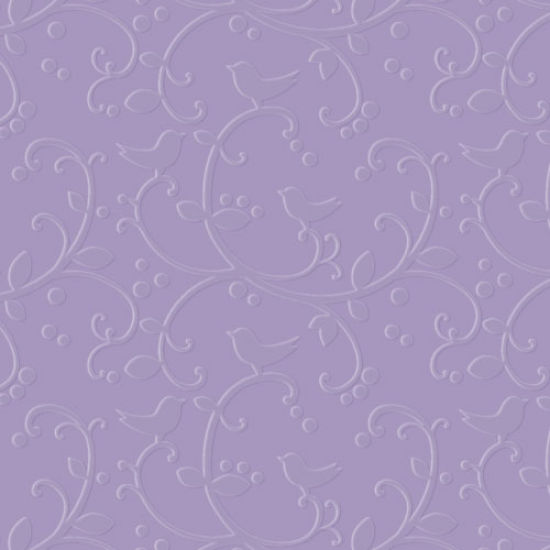 Purple Cupcakes Birdie Embossing Folder